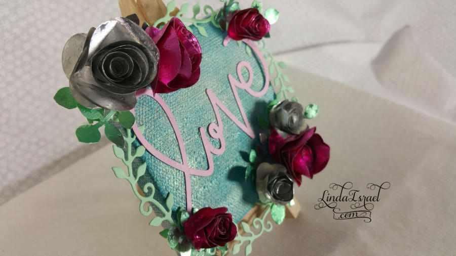 Love Roses Mixed Media Canvas