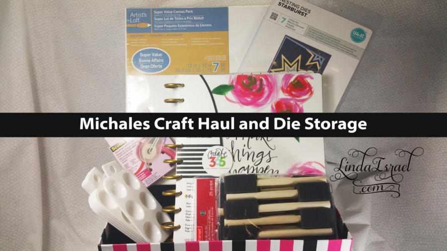 Michaels Craft Haul and Die Storage