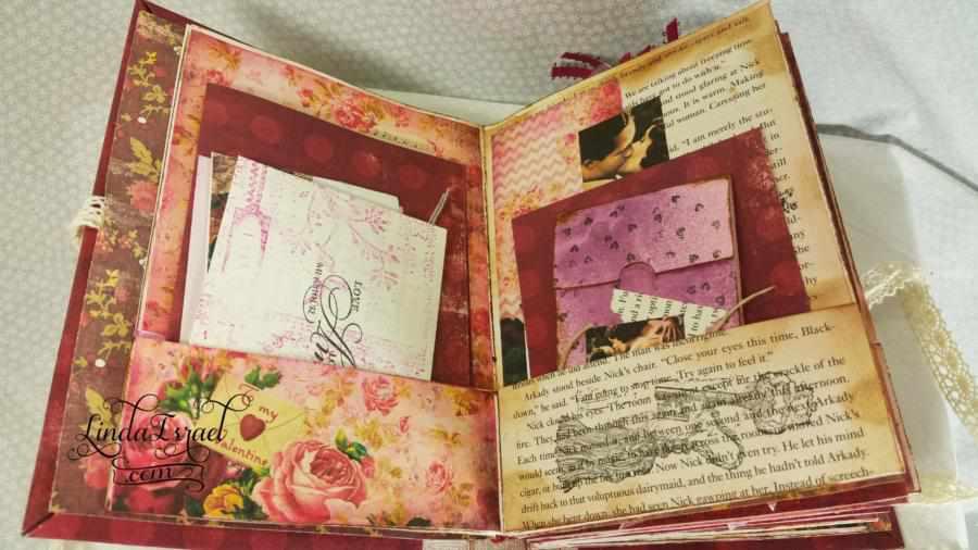 Valentine Junk Journal Using Calico Collage Journal Kit