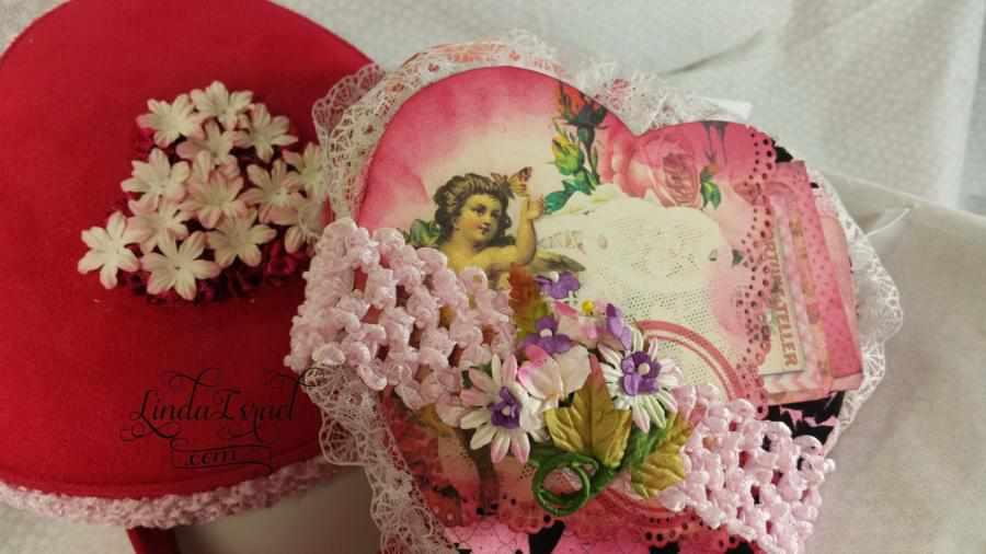 Valentines Love Journal Inside Heart Box