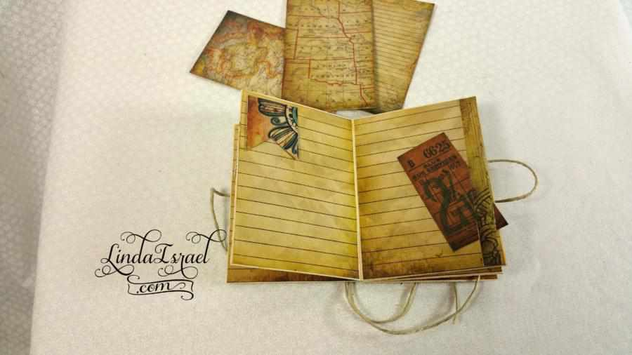 How to Make a Travel ATC size Junk Journal