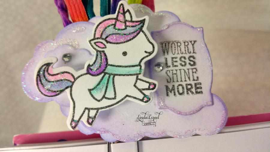 How to make an Altered Paper clip with Lawn Fawn Unicorn Stamp
