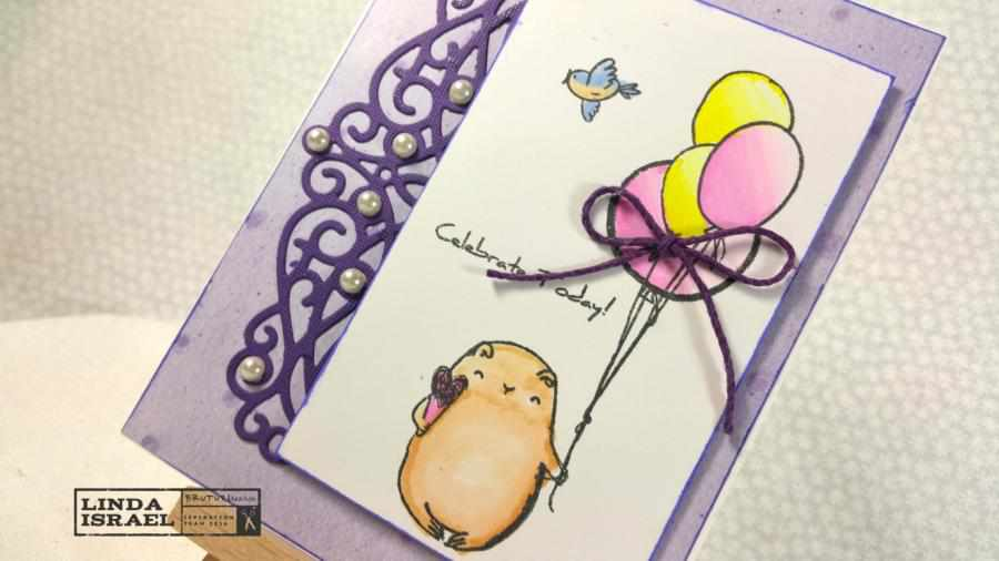 How to use Birthday Bears on a Greeting Card