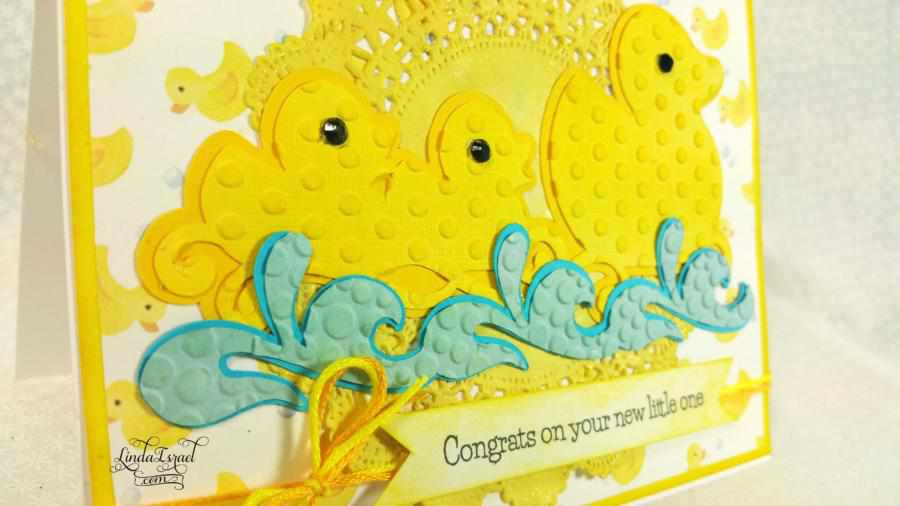 How to make a Ducky Baby Card