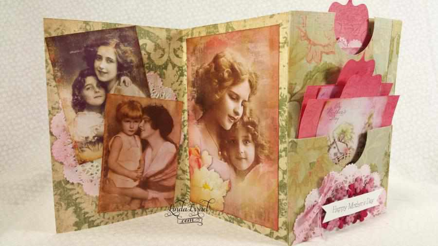 How to make a Bi Fold Mother's Day Card with Pockets