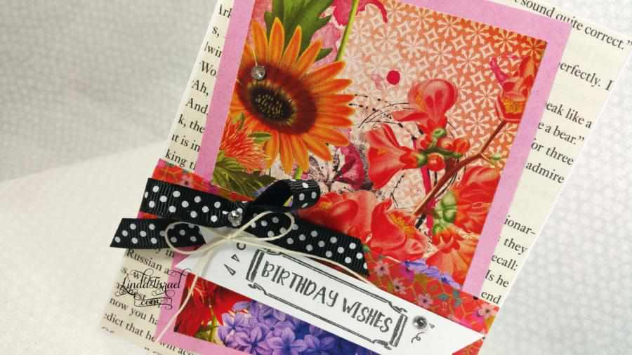 How To Make A Birthday Wishes Card Using Scrapslinda Israel