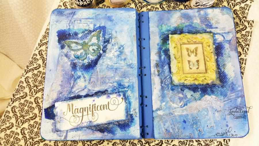 How to make a Blue Butterfly Journal Page