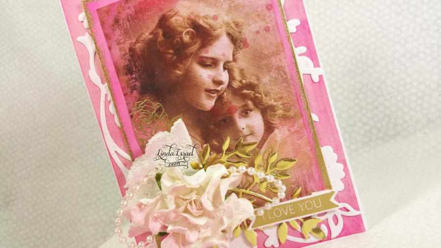 Shabby Chic Mother's Day Greeting Card