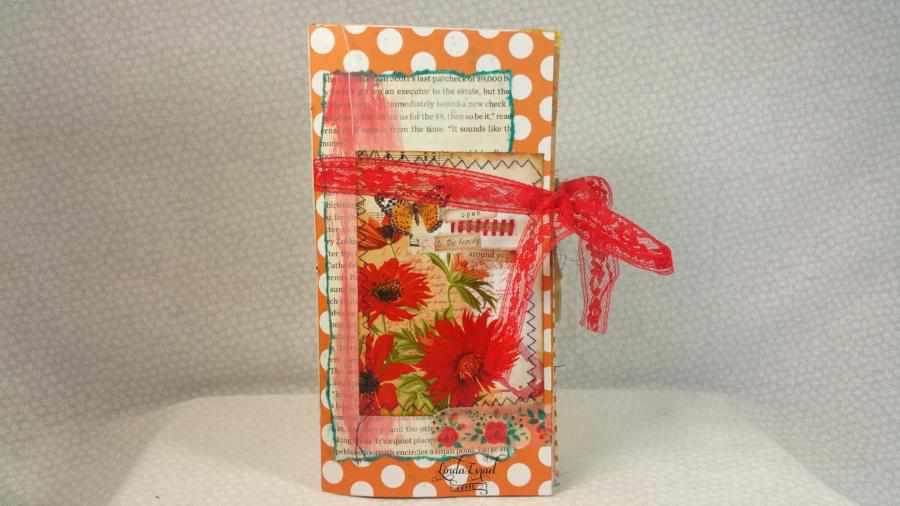 Orange Natures Beauty Travelers Notebook Junk Journal