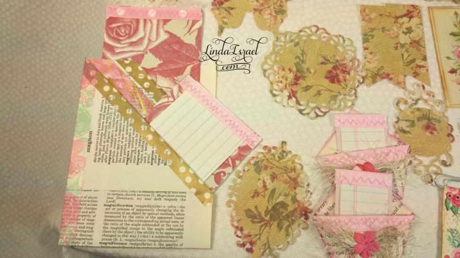 Rose Junk Journal Embellishment Kit
