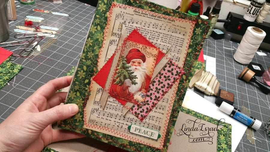 How to make a cover for Christmas Junk Journal