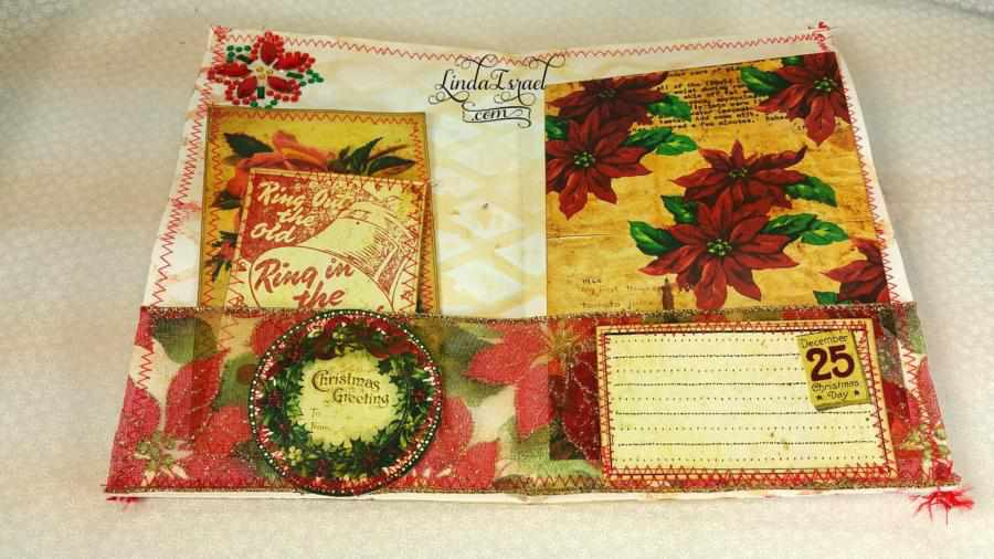 Christmas Junk Journal Page