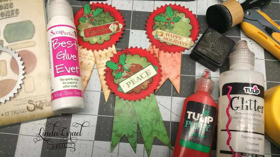 How to make Christmas Rosettes