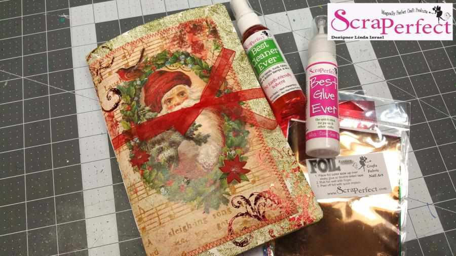 Christmas Junk Journal with Transfer Foil