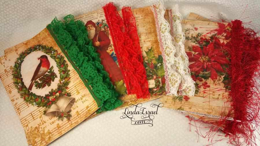 How to sew lace trim on Junk Journal Pages