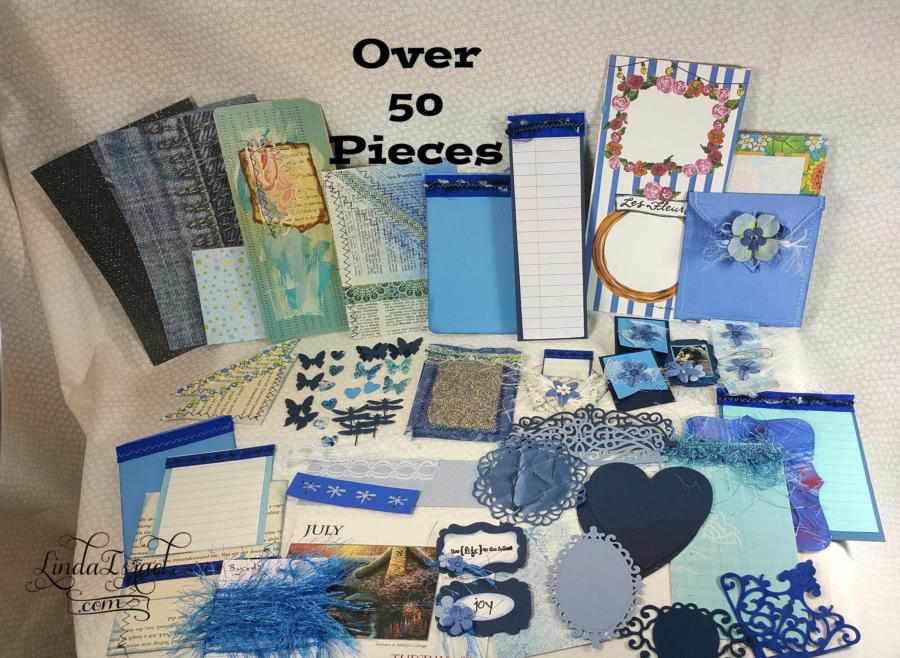 Blue Embellishment Kits