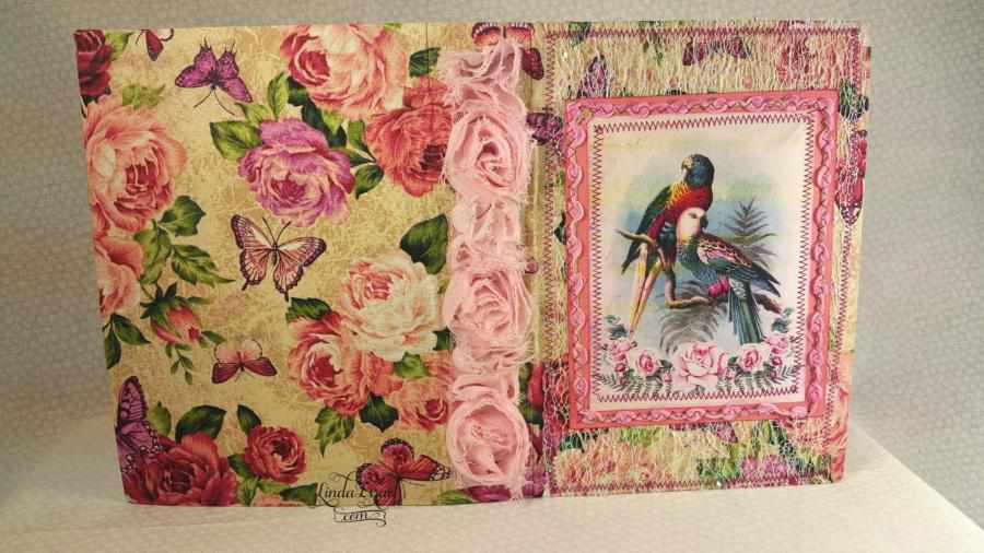 Pink Song Bird Junk Journal