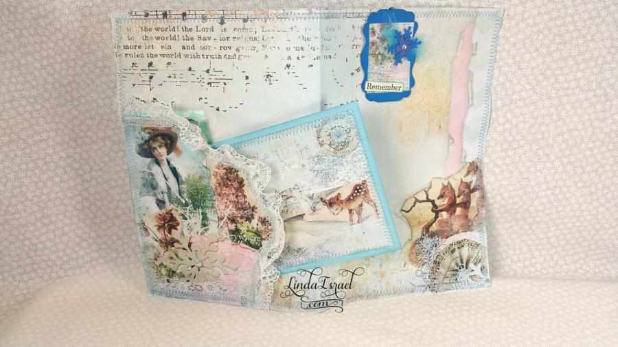 Winter Junk Journal Page