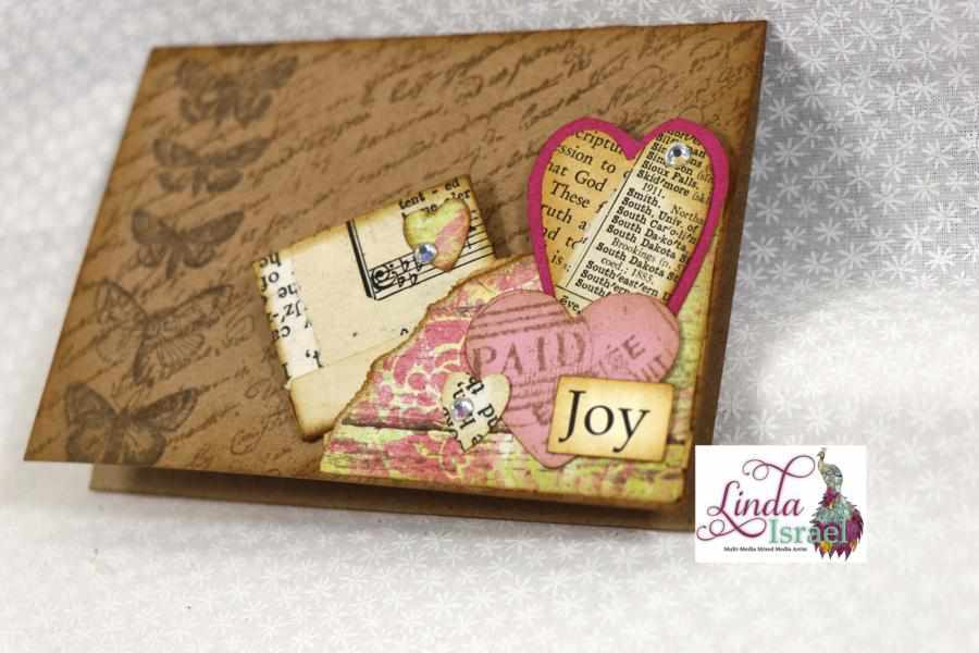 Stamped & Collage Journal Card Tutorial