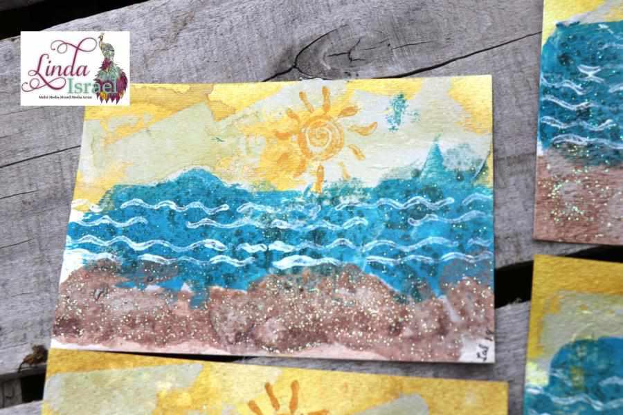 Summer Mixed Media Postcard Collaboration
