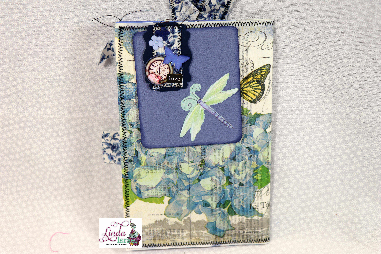 Light Blue Junk Journal Page Tutorial