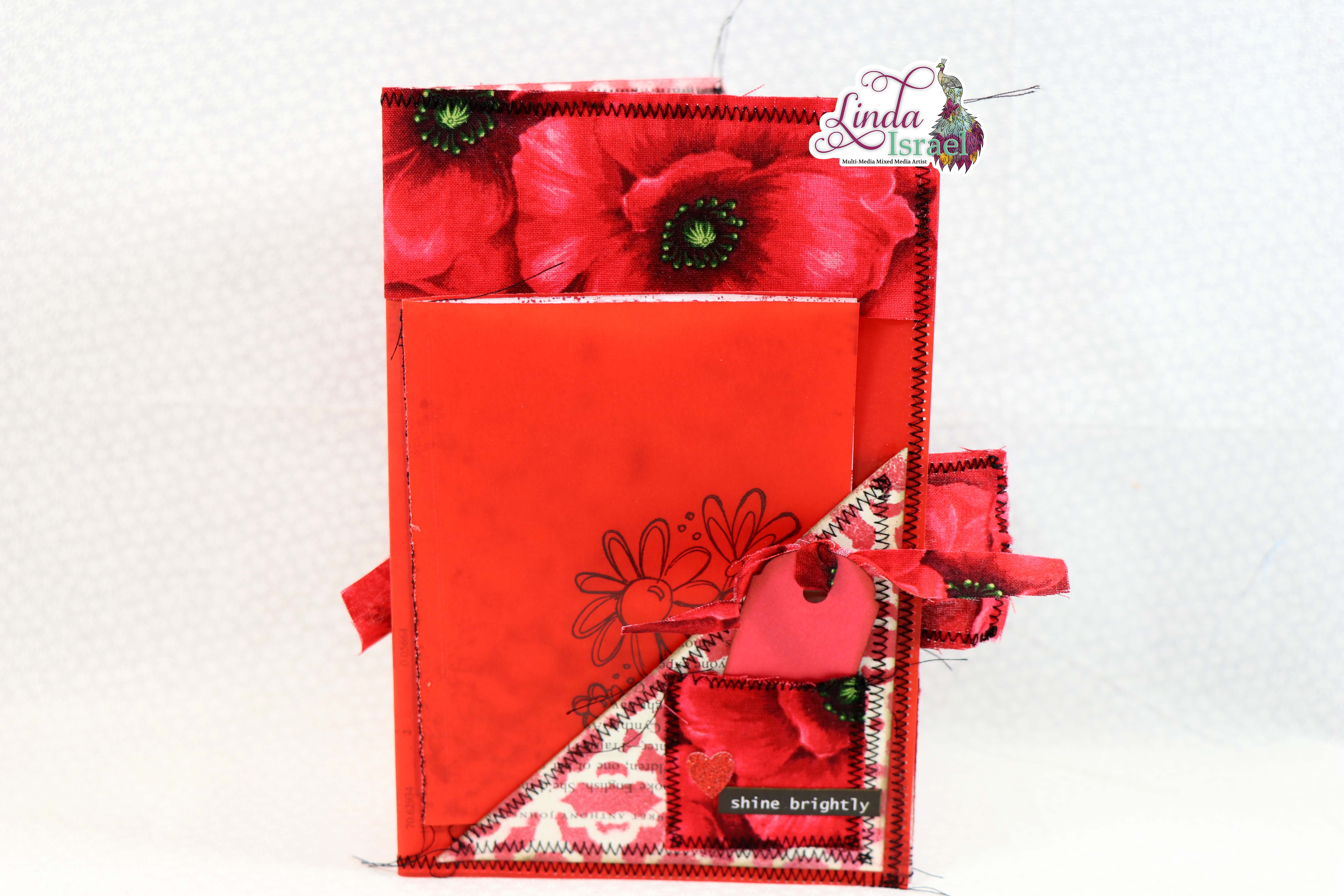 Red Junk Journal Page Tutorial