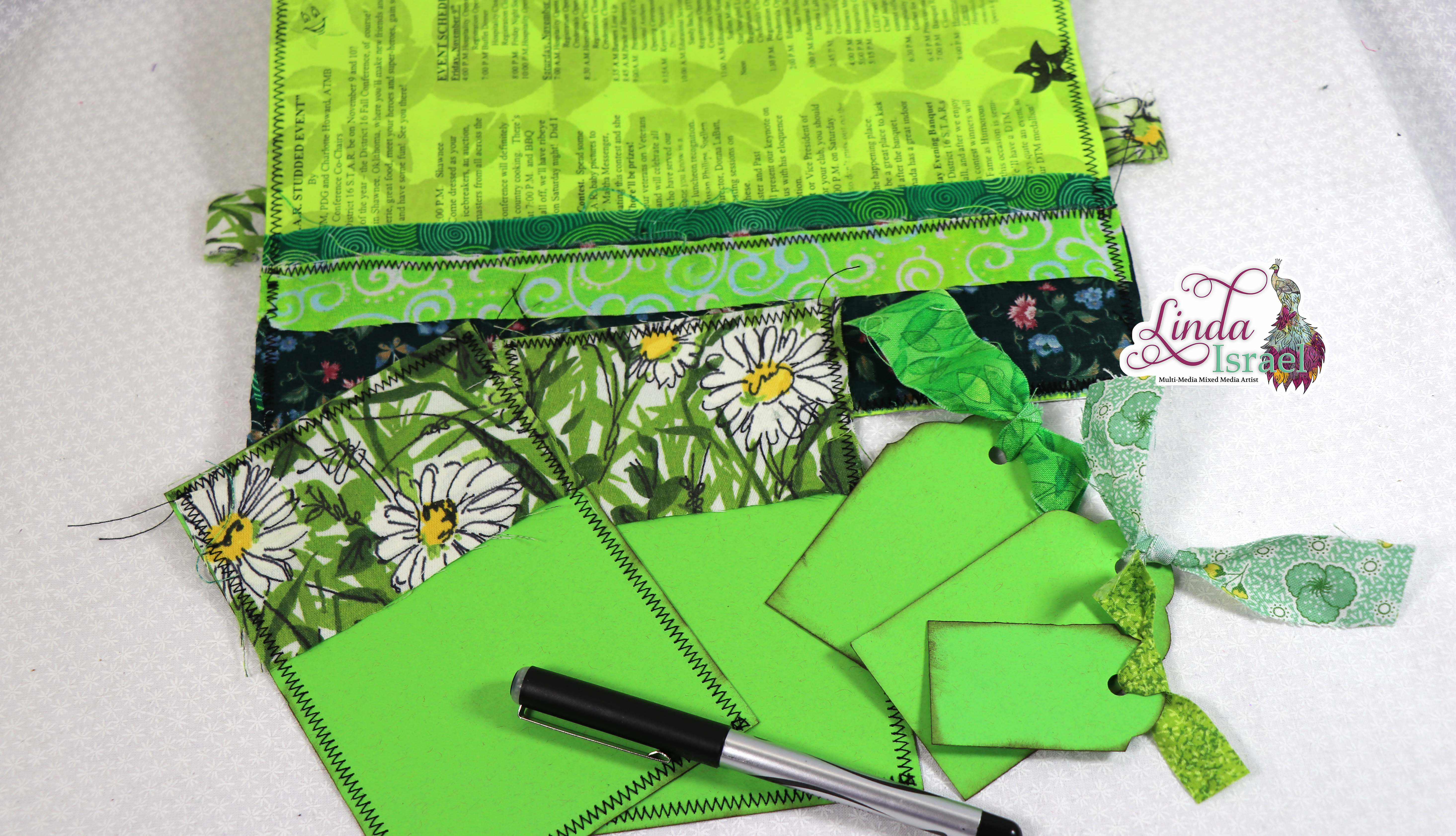 Green Junk Journal Page Tutorial