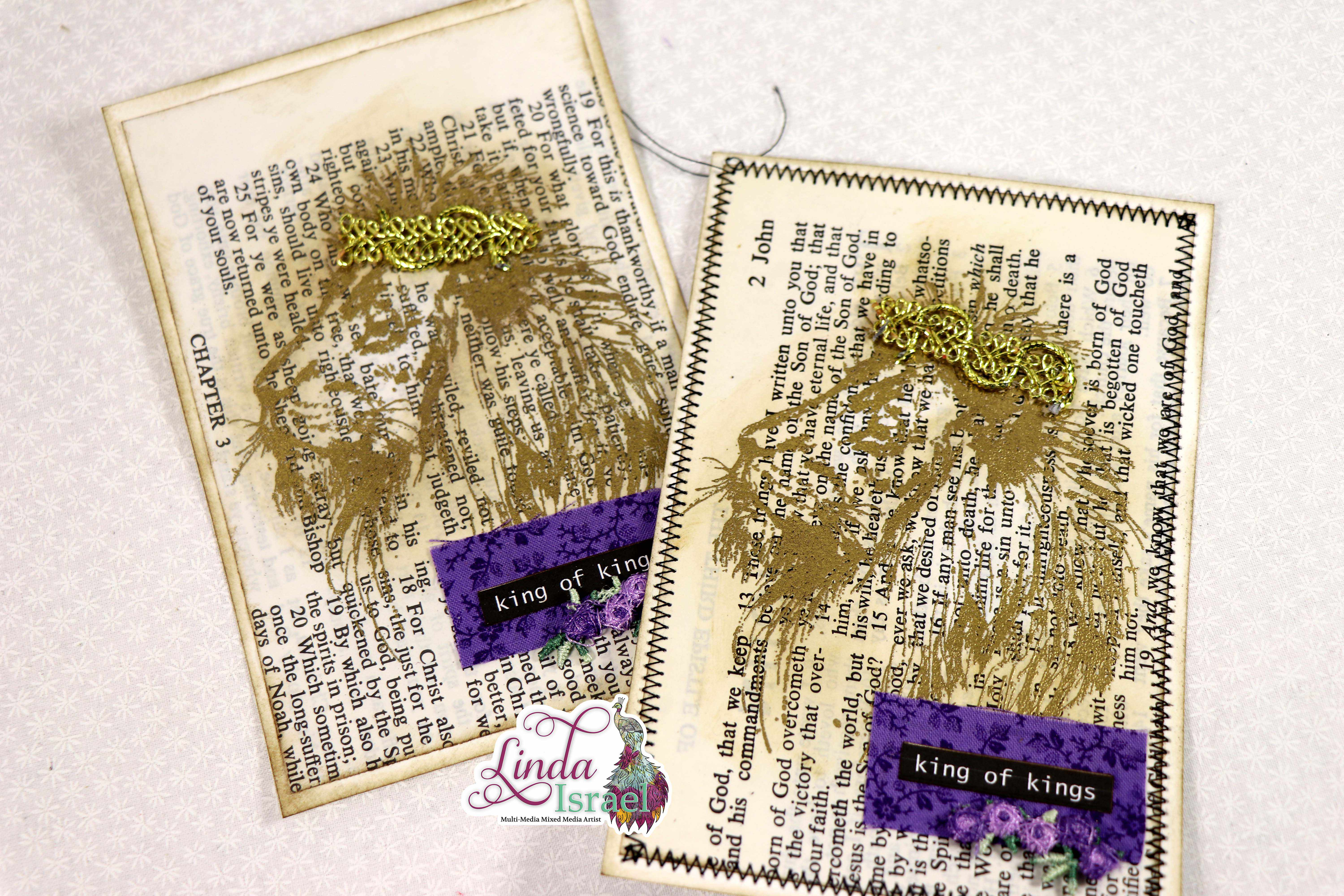 Stamped Heat Embossed Lion Journal Card Tutorial