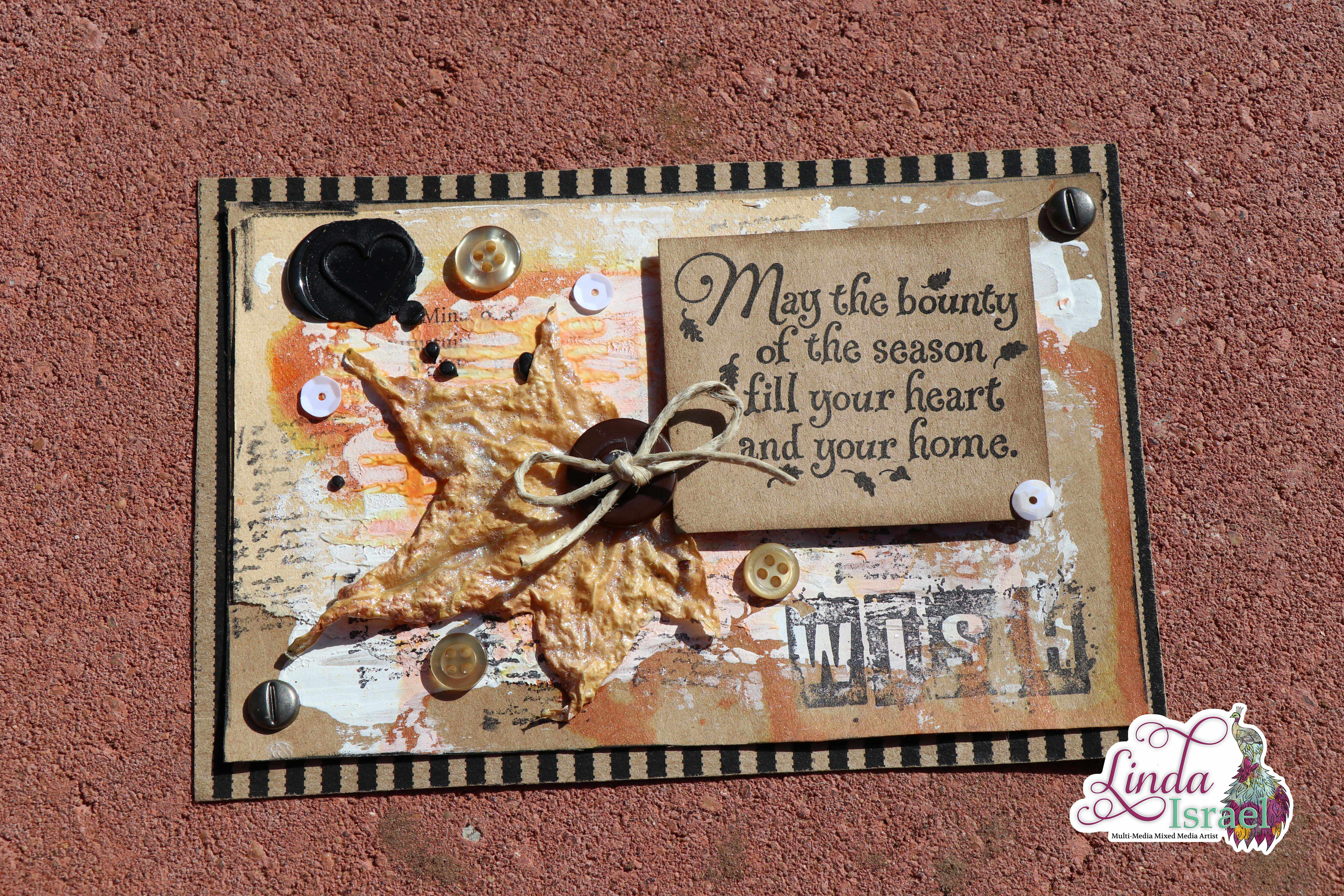 Fall Mixed Media Collaboration Postcard Tutorial