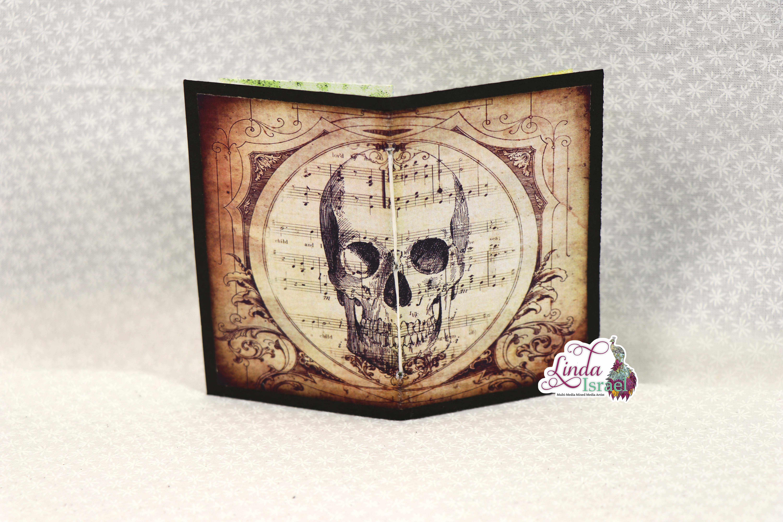 Halloween Skull Mini Junk Journal Tutorial