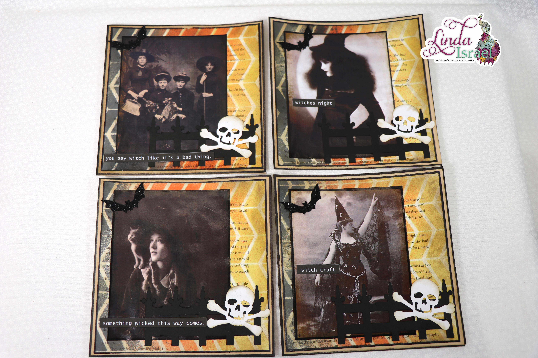 Large Halloween Journal Card Tutorial