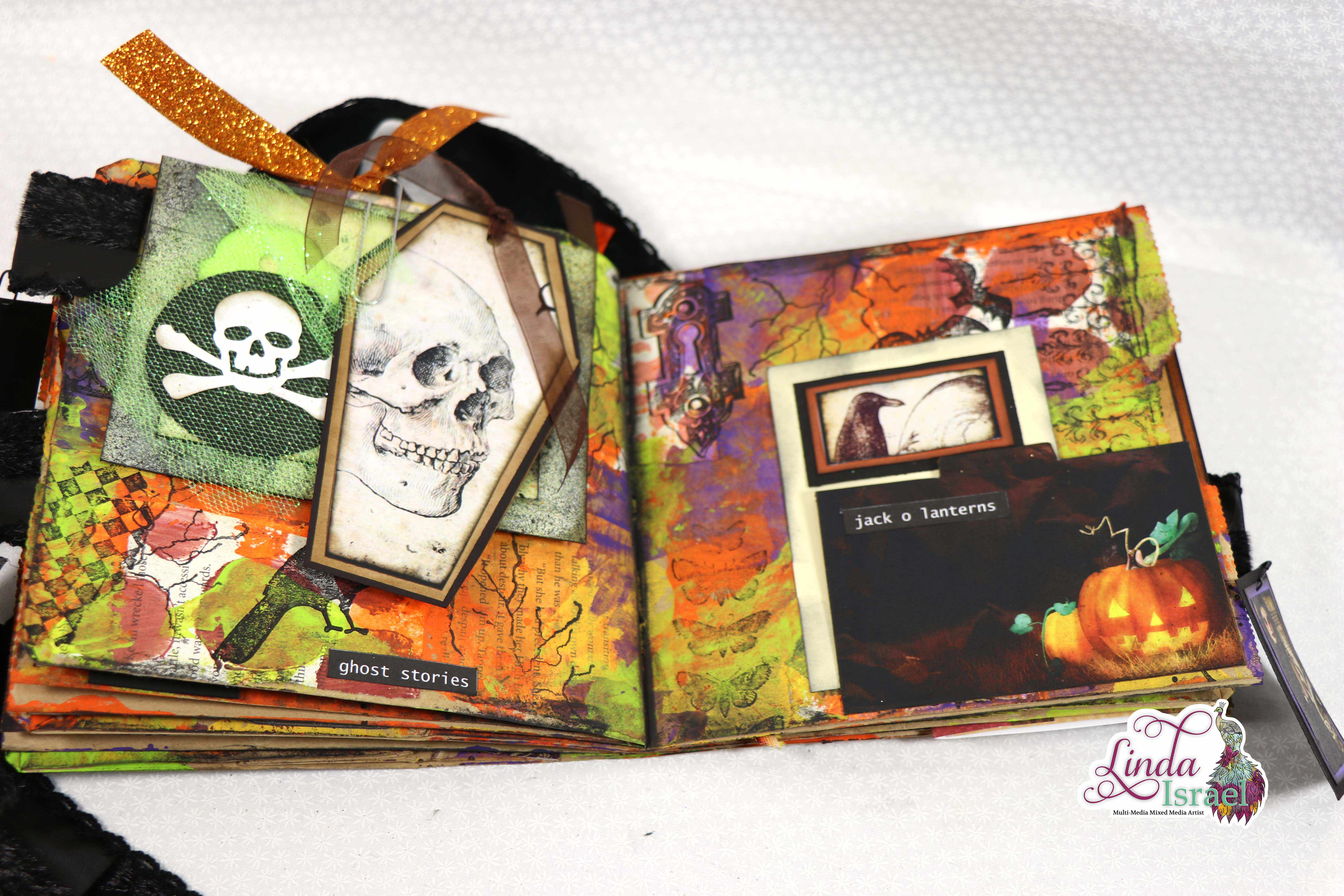 Mixed Media Halloween Paper Bag Junk Journal Tutorial