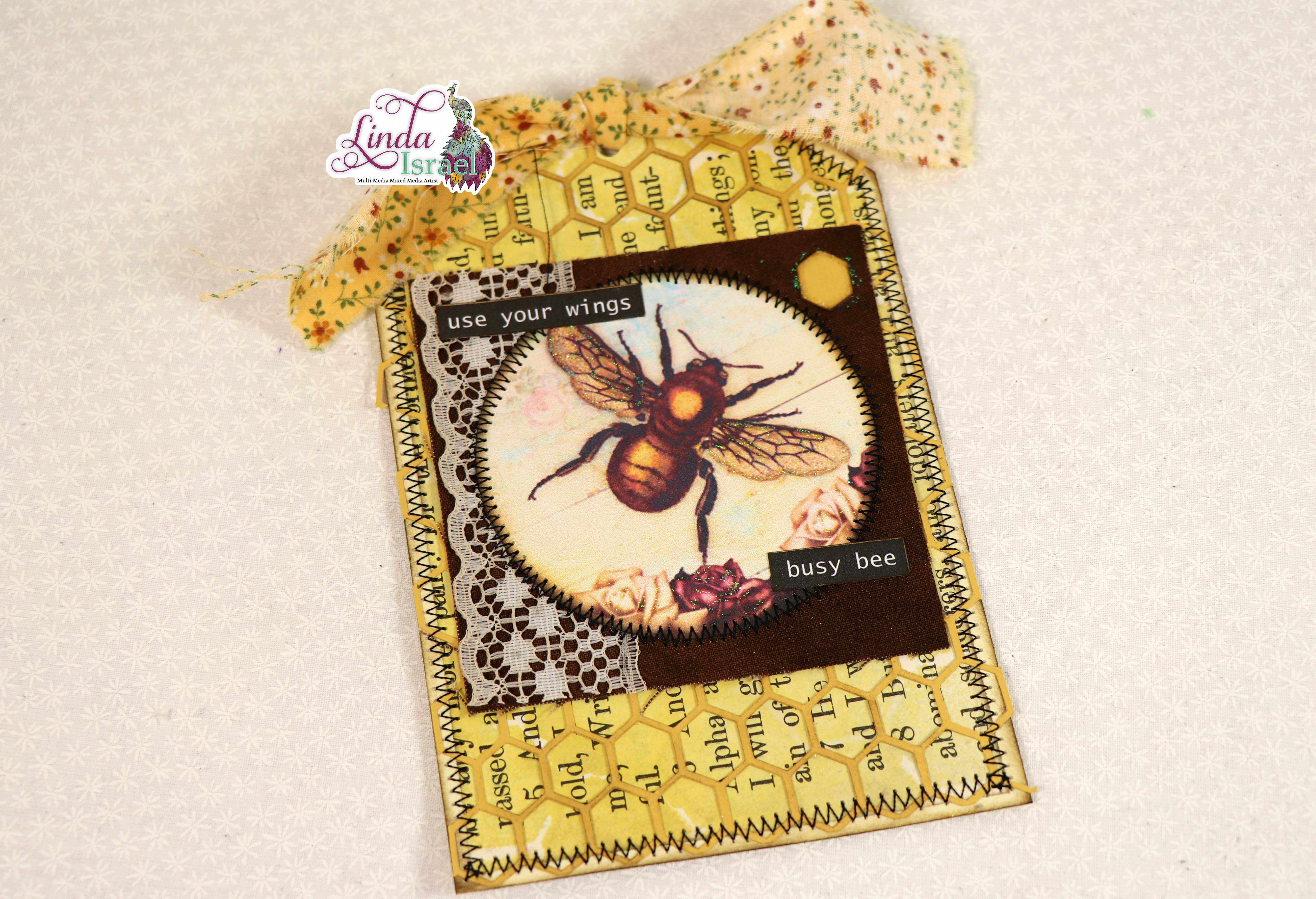 Vintage Bee Tag Tutorial