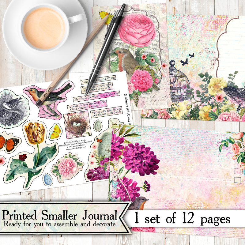 All About Robins Printed mini Journal Kit