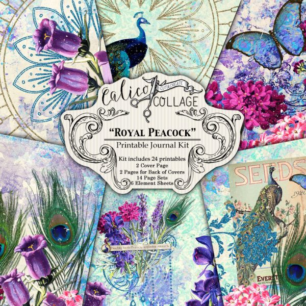 Virtual Subscription Royal Peacock Digital Journal Kit