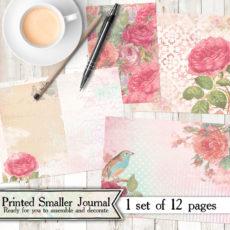 Enchanted Rose Printed Mini Journal Kit