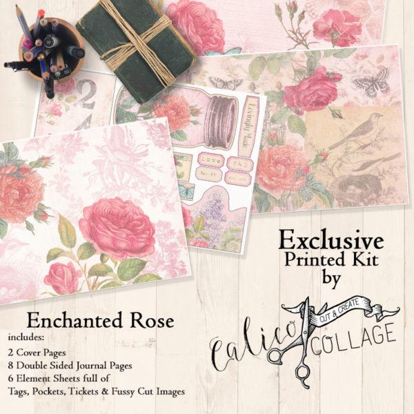 Exclusive Printed Enchanted Rose Large Journal Kit