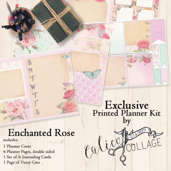Enchanted Rose Printed Planner Kit