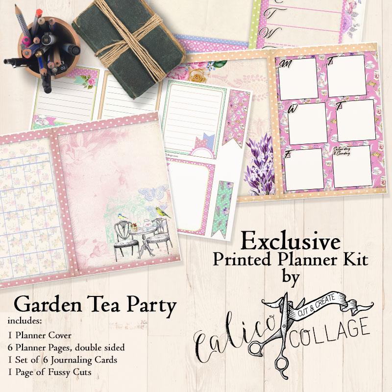 Garden Tea Party Printed Planner
