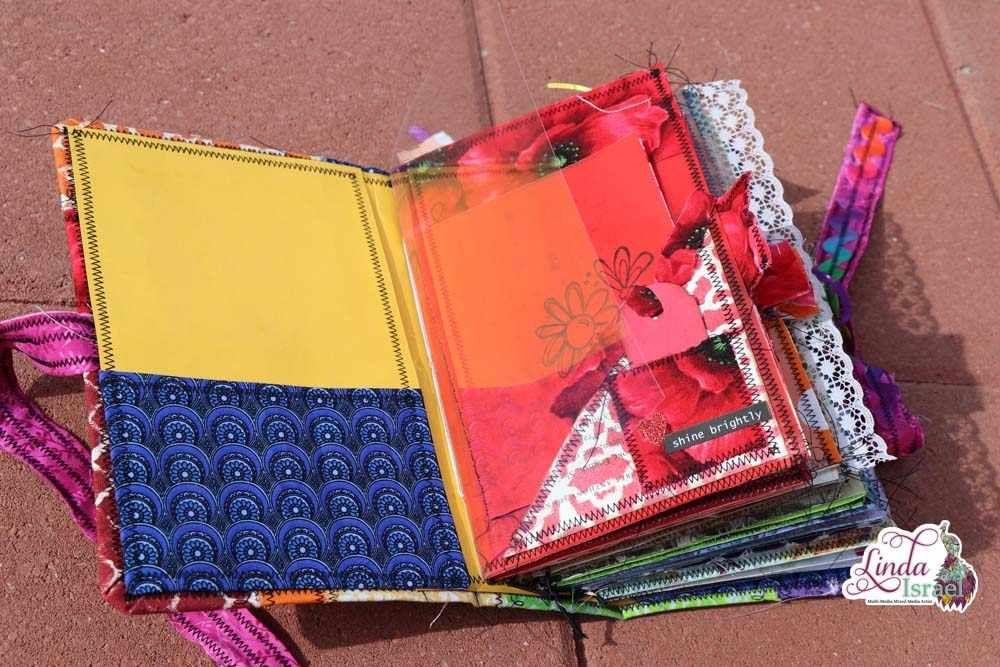 Rainbow Junk Journal Cover Tutorial