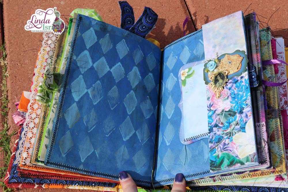 Start To Finish Tutorial On Making A Fabric Art Journal