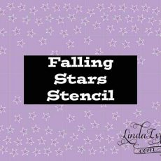 Stencil Falling Stars