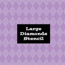 Stencil Large Diamonds