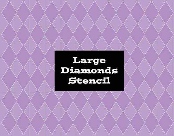 Stencil Large Diamonds