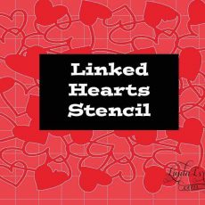 Linked Hearts Stencil