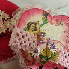 Valentine Junk Journal in Heart Box