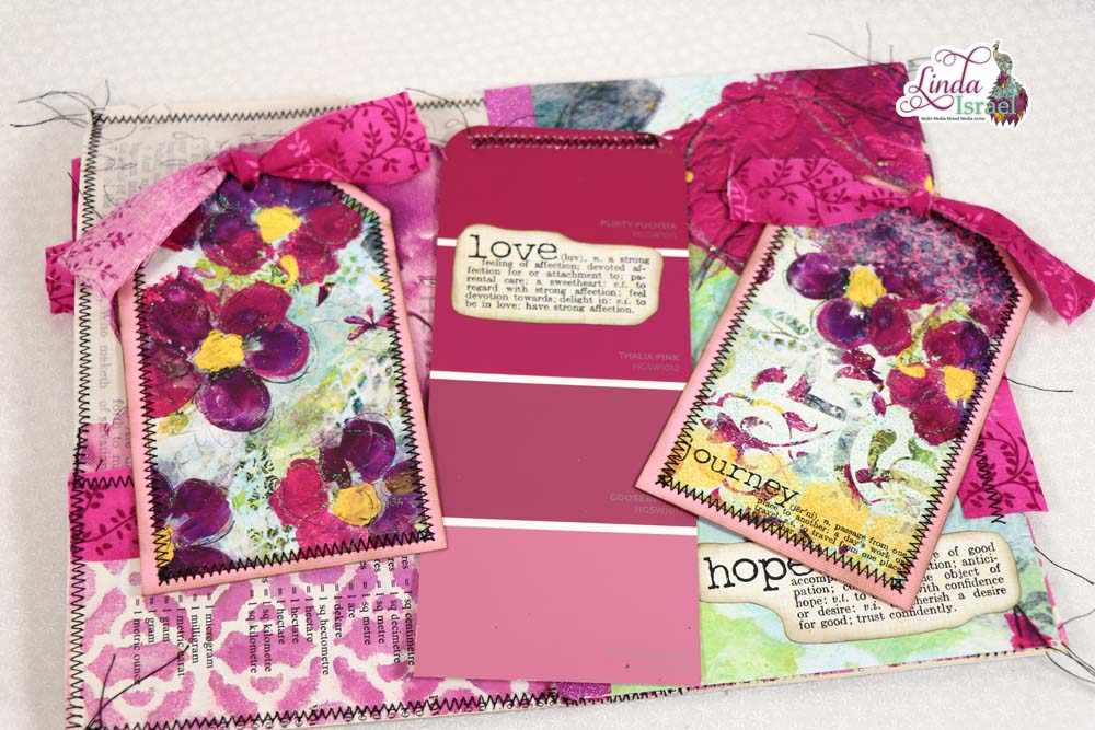Violet Junk Journal Page Tutorial