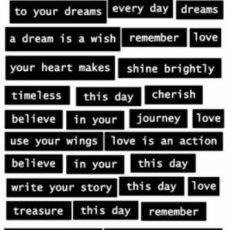 White Words on Black
