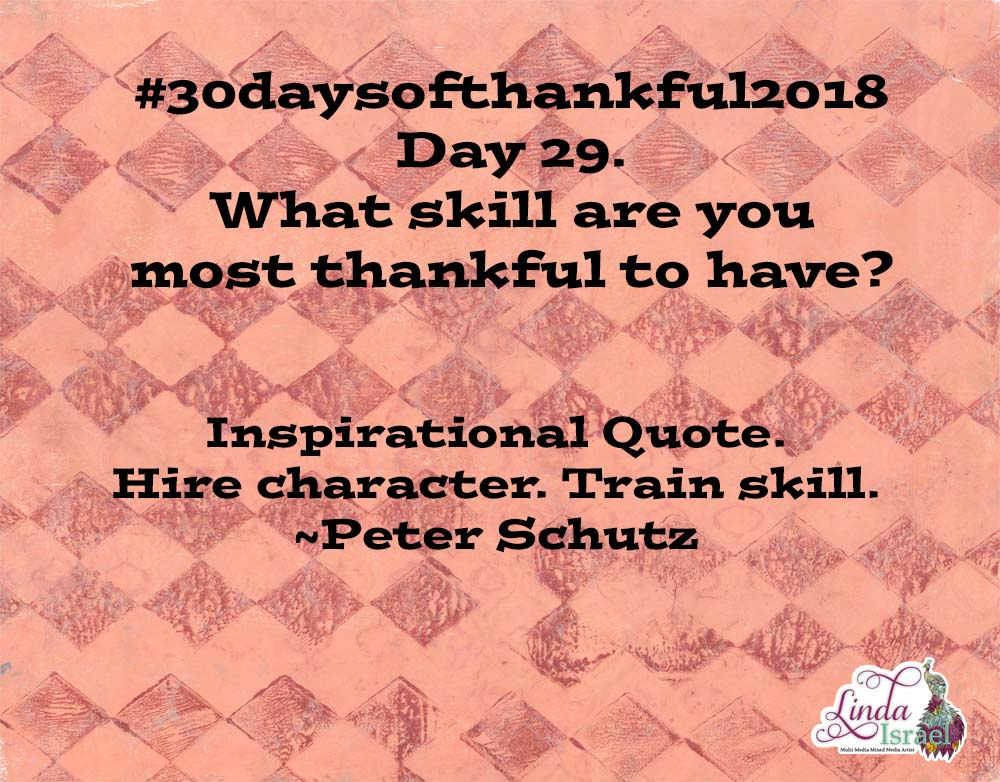 Day 29 Of 30 Days Of Thankful 2018