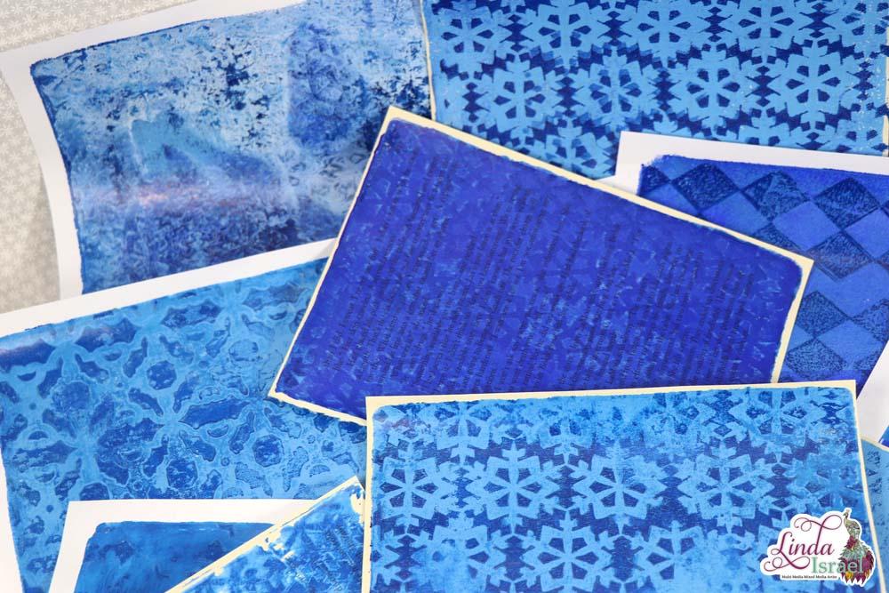 Blue Gel Print Play Time